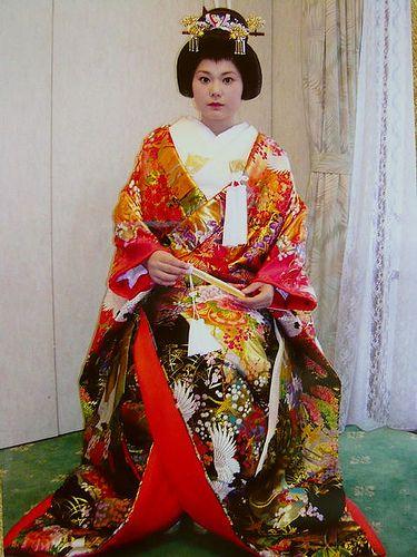 Traditional japanese wedding kimono & hair | Japan ...