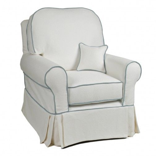 Rocking Chair Slipcovers For Nursery Replacement Spindles Slipcovered Buckingham Glider Little Castle Dream