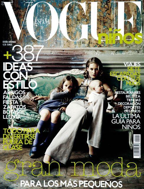 Photo Eric Matheron Balay, Fashion-Editor Rocio Pinto, #vogue #ninos #kids #fashion #cover #family #mummy #baby #thumb