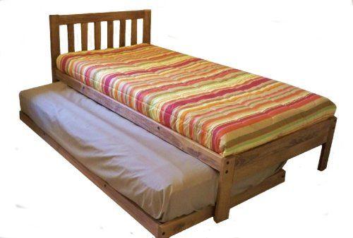 Santa Barbara Twin Trundle Bed Set - Toasted Pecan DMD Hardwood ...