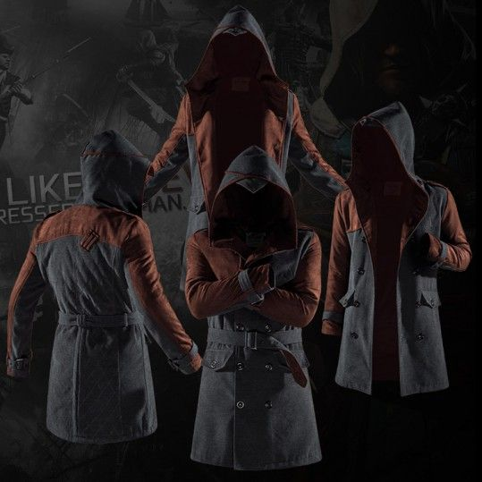 Idol Store – Geek Cloud Assassins Creed Coat Logo Syndicate Game Jacket