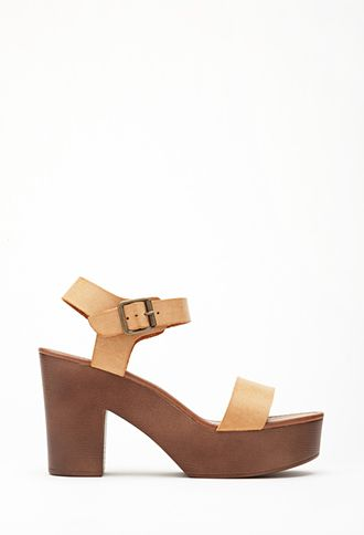 f086225a45707 Faux Leather Strappy Platform Sandals