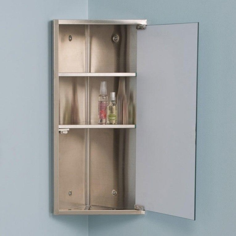 14 Appealing Corner Bathroom Medicine Cabinet Mirrors Picture Ideas Interior Design Bathroom Corner Cabinet Corner Medicine Cabinet Bathroom Cabinets Designs