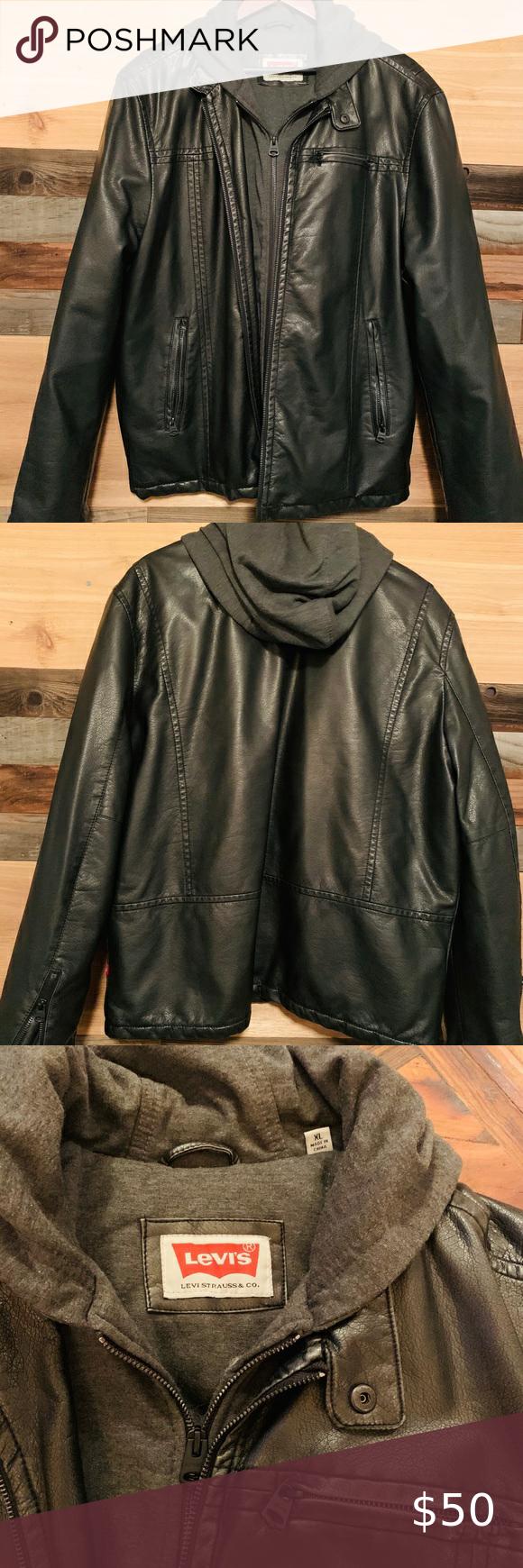 Levi's black leather jacket in 2020 Leather jacket