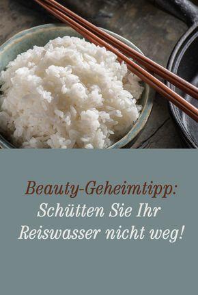 Reiswasser Herstellen