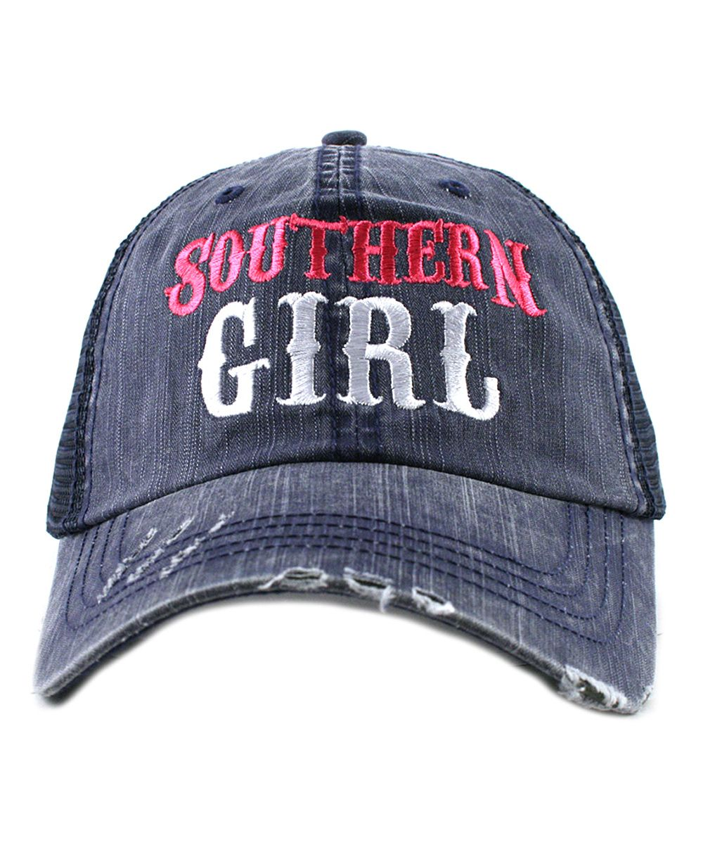 Navy  Southern Girl  Embroidered Trucker Hat  e16a7ea816e2