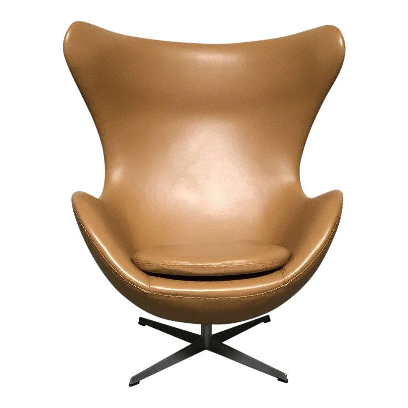 The Sculptural Egg Chair And Ottoman Was Designed By Arne