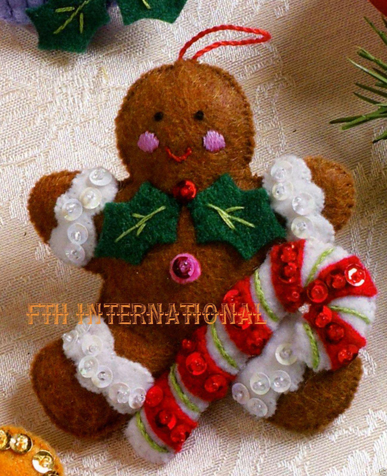 Details About Bucilla Cupcake Angel 6 Pce Felt Christmas