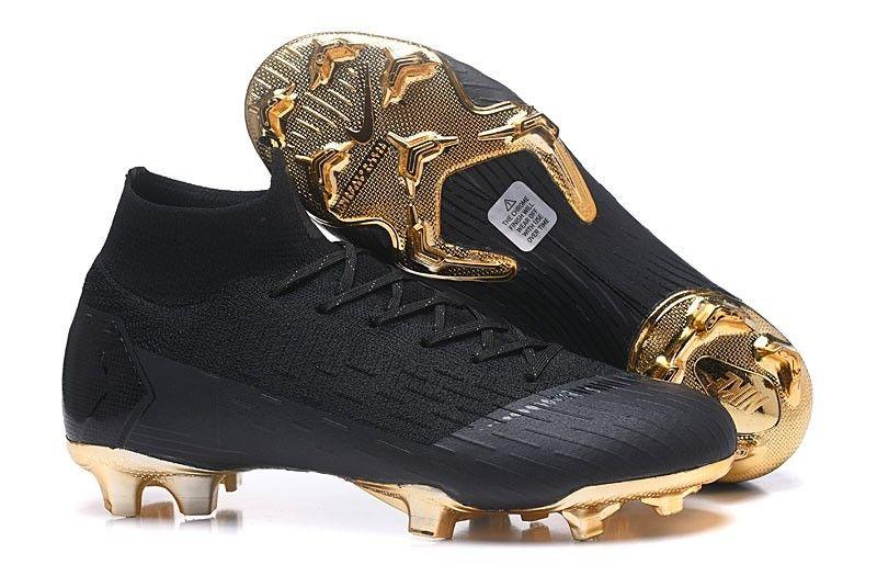 Lightest Nike Mercurial Superfly Vi 360 Elite Fg Soccer Cleats Black Gold Soccer Cleats Nike Mercurial Best Soccer Shoes Football Boots