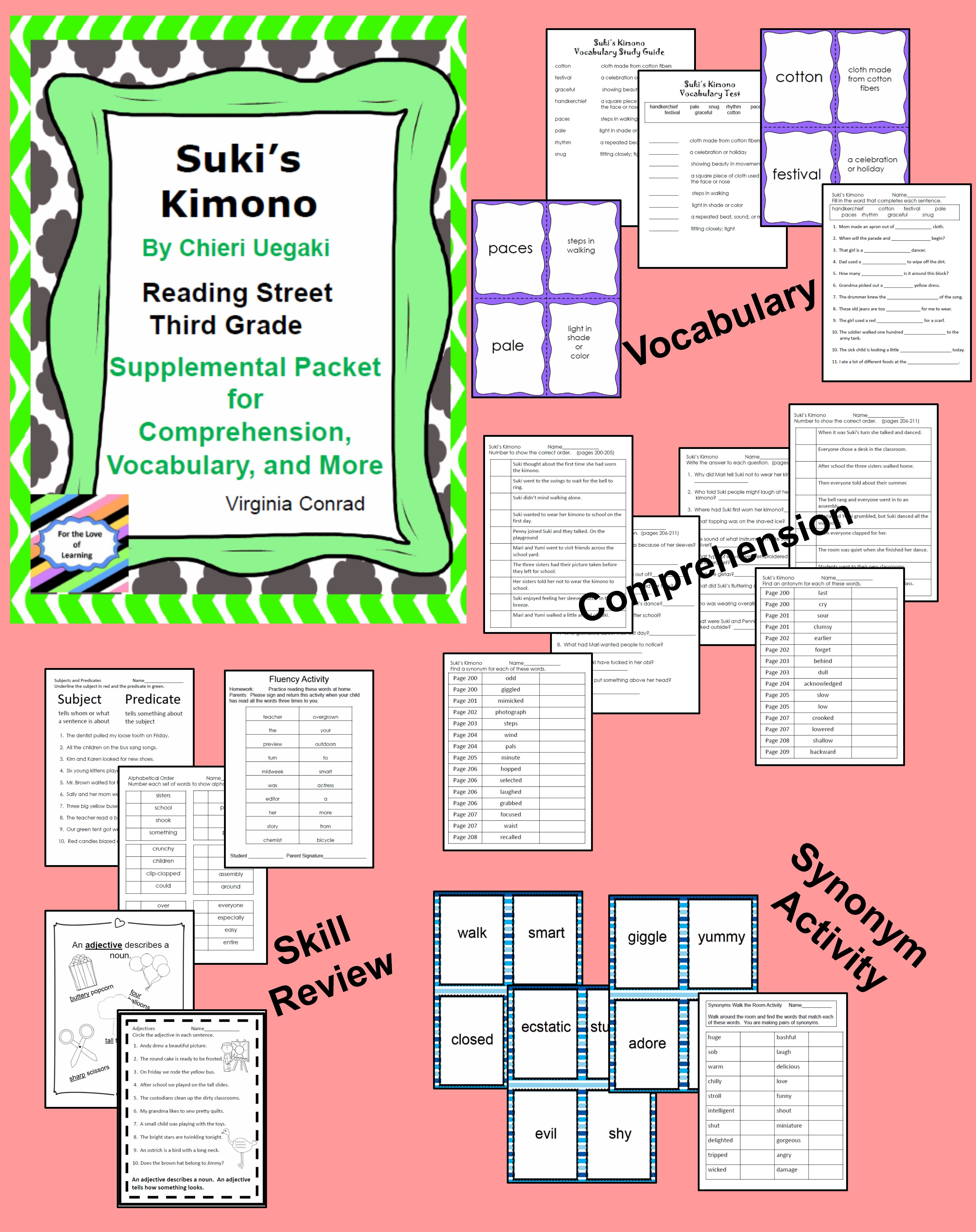 Suki S Kimono Supplemental Packet Third Grade Reading