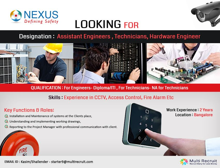 Nexus Safety Solutions Pvt Ltd A Renowned Company In System Integrator Is Hiring For Engineers Systems Integrator Recruitment Advertising Recruitment Company