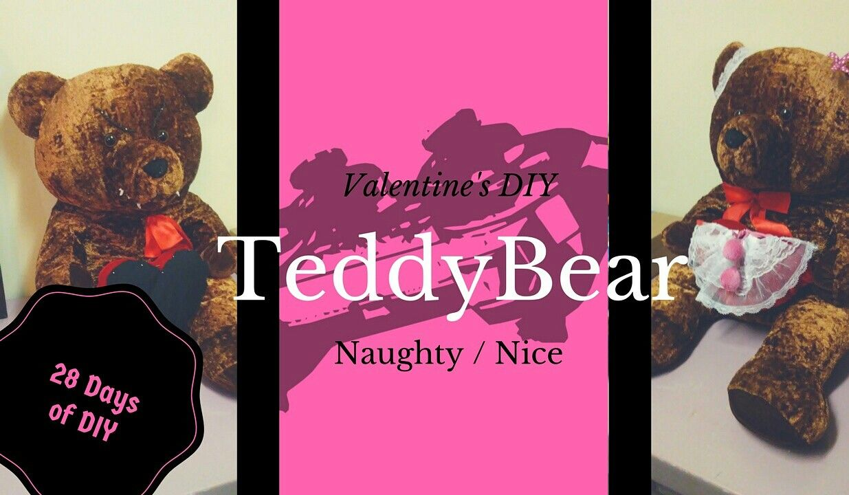 Check out this DIY Naughty and Nice Teddy Bear. Happy Valentines Day! Link - https://youtu.be/6PmKWSFYfm8
