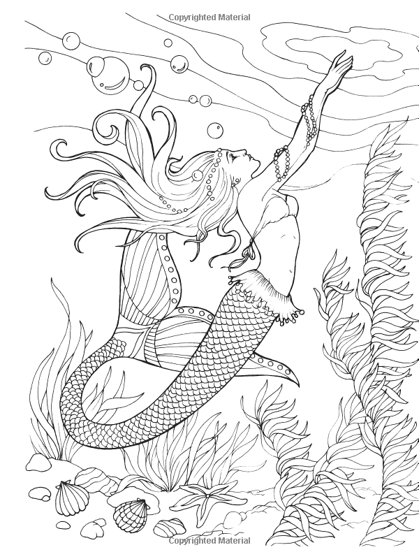 Mermaid coloring pages realistic cows