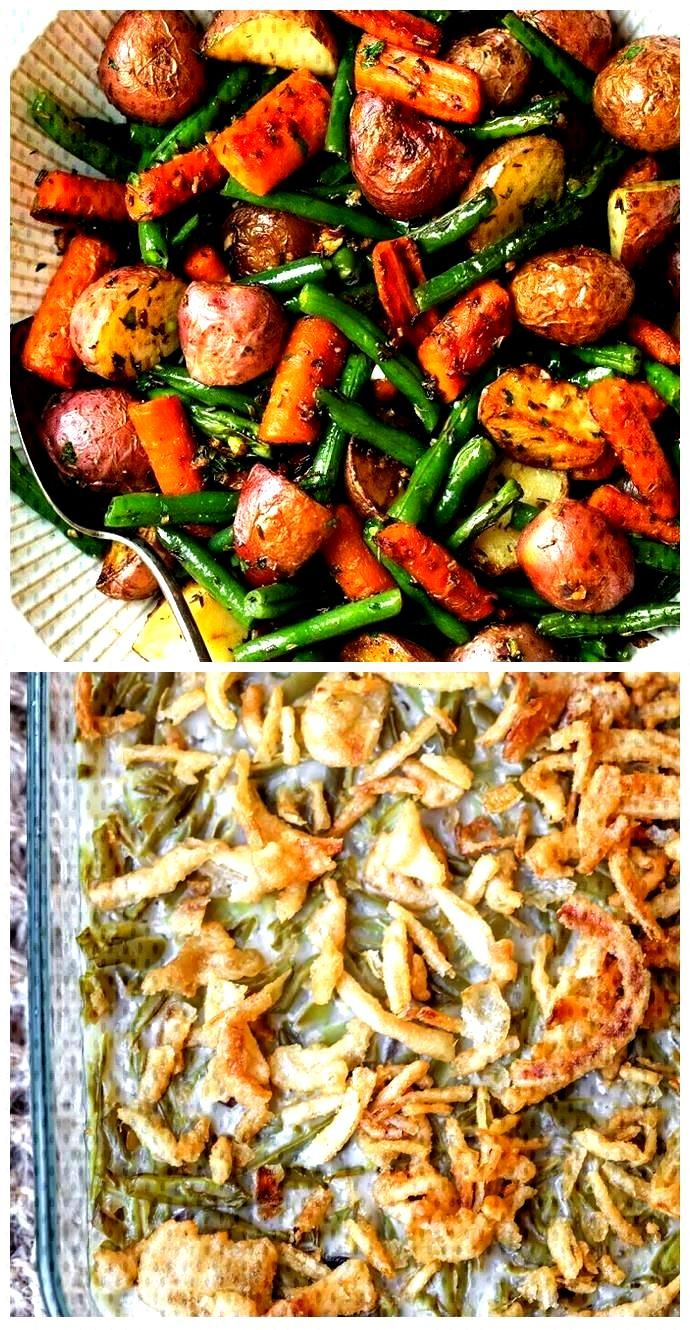 Garlic Herb Roasted Potatoes Carrots and Green Beans Recipe | Yummly Garlic Herb Roasted Potatoes C