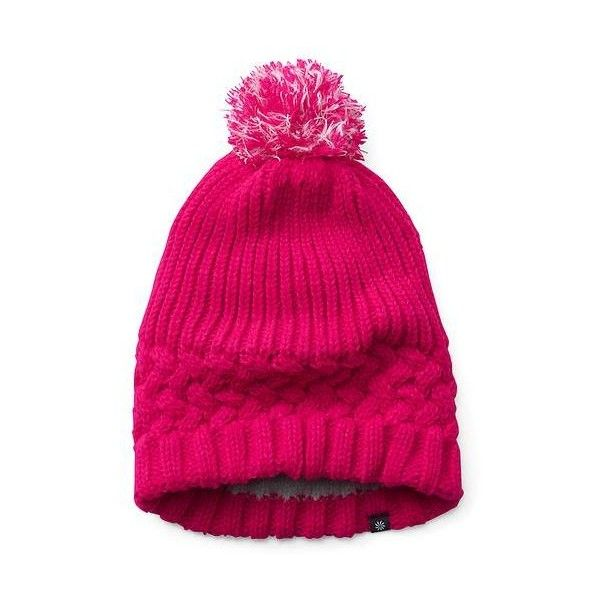 Athleta Girl Glow Girl Glow Beanie ($26) ❤ liked on Polyvore featuring neon pinksicle