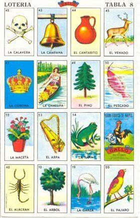 La Loteria Game Spanish Juego Mexicano Bingo 20 Tablets 1 Deck Of Playing Cards Juegos Mexicanos Cartas De Loteria Cartas De Loteria Mexicana