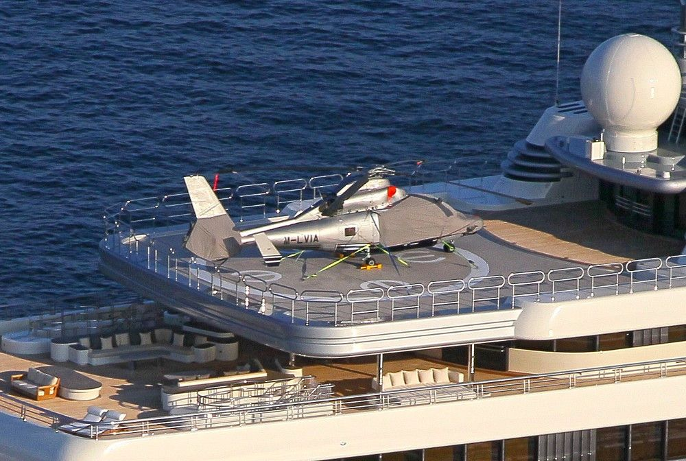 Superyacht abramovich  General View of Roman Abramovich's Yacht | Aviones y Choppers ...
