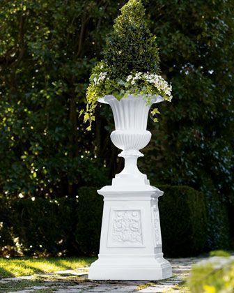 White Venetian-Style Urns at Horchow  | Brilliant Basics
