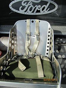 Aluminum Bomber Seats and Harness