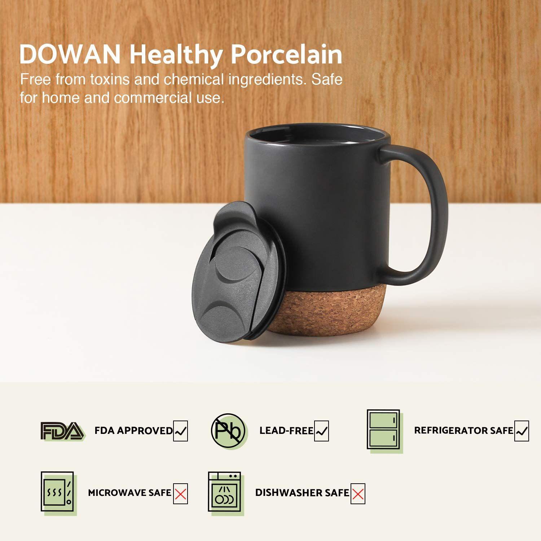 Dowan 15 oz coffee mug sets set of 2 large ceramic mugs