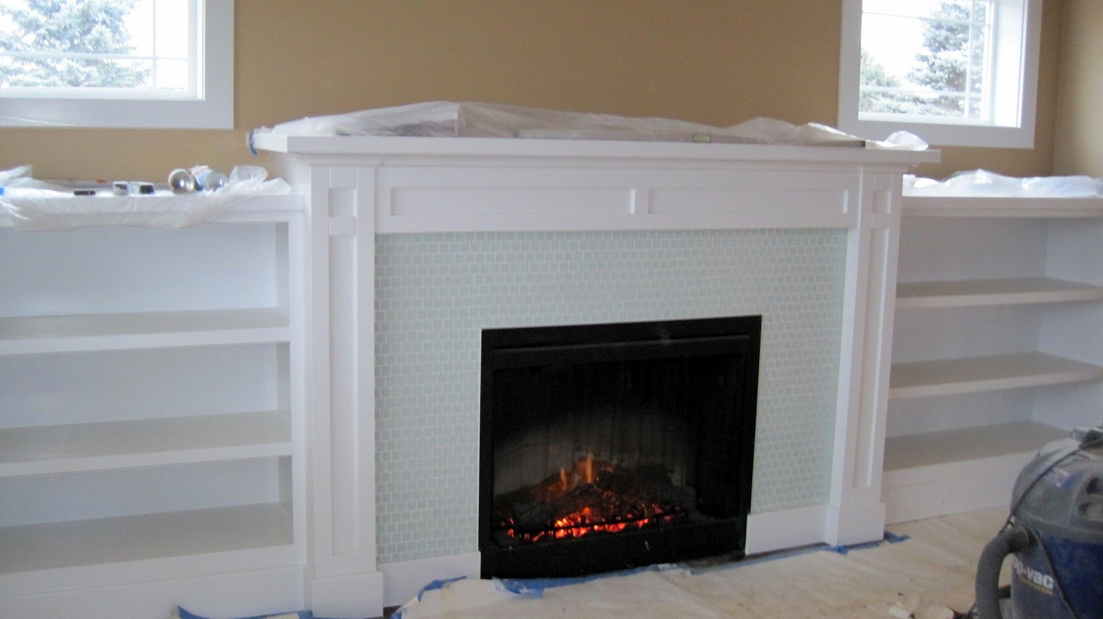 Bookshelves Around Fireplace Built In Fireplace With
