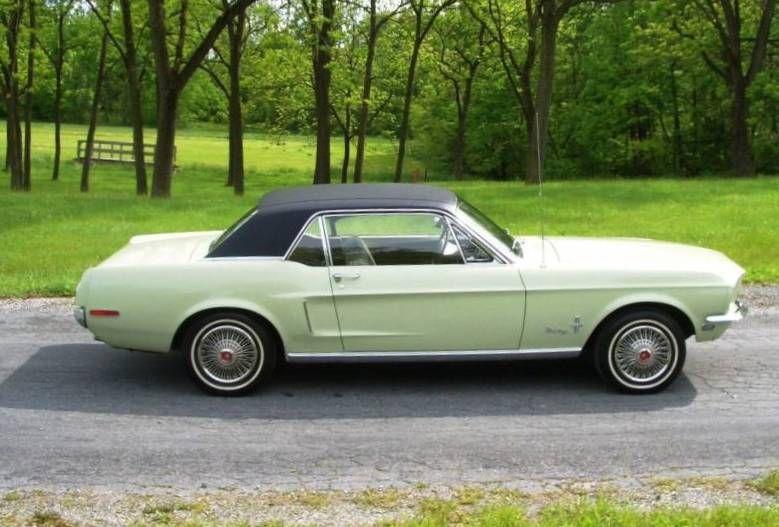 Seafoam Green 1968 Ford Mustang Hardtop Mustangattitude Com Photo Green Mustang Mustang 1968 Mustang