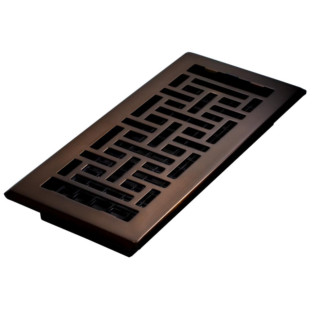 Decor Grates 4 In X 10 In Steel Floor Register Oil Rubbed Bronze Ajh410 Rb The Home Depot Floor Registers Flooring Deck Tile