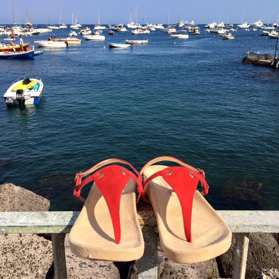Red passion #sandals #sandali #ischia