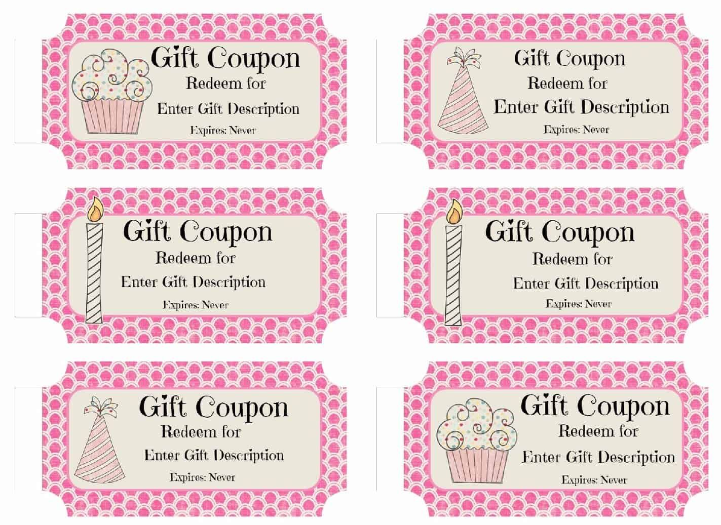 Free Custom Birthday Coupons Customize Online Coupon Template Birthday Coupons Christmas Gift Certificate Template
