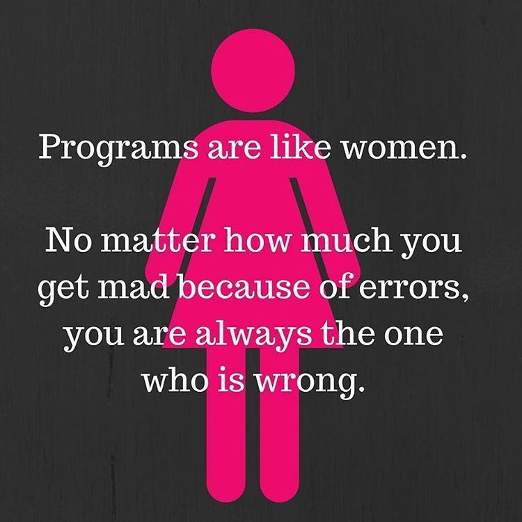 Programmer and Women #programmer #programming #women #girl
