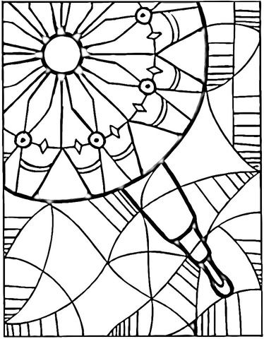 View in Kaleidoscope Coloring page