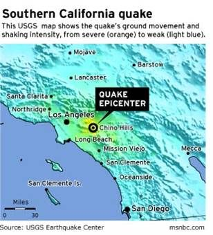 Daily 411 M 5 3 Earthquake 2km E Of La Habra California Earthquake Northridge California