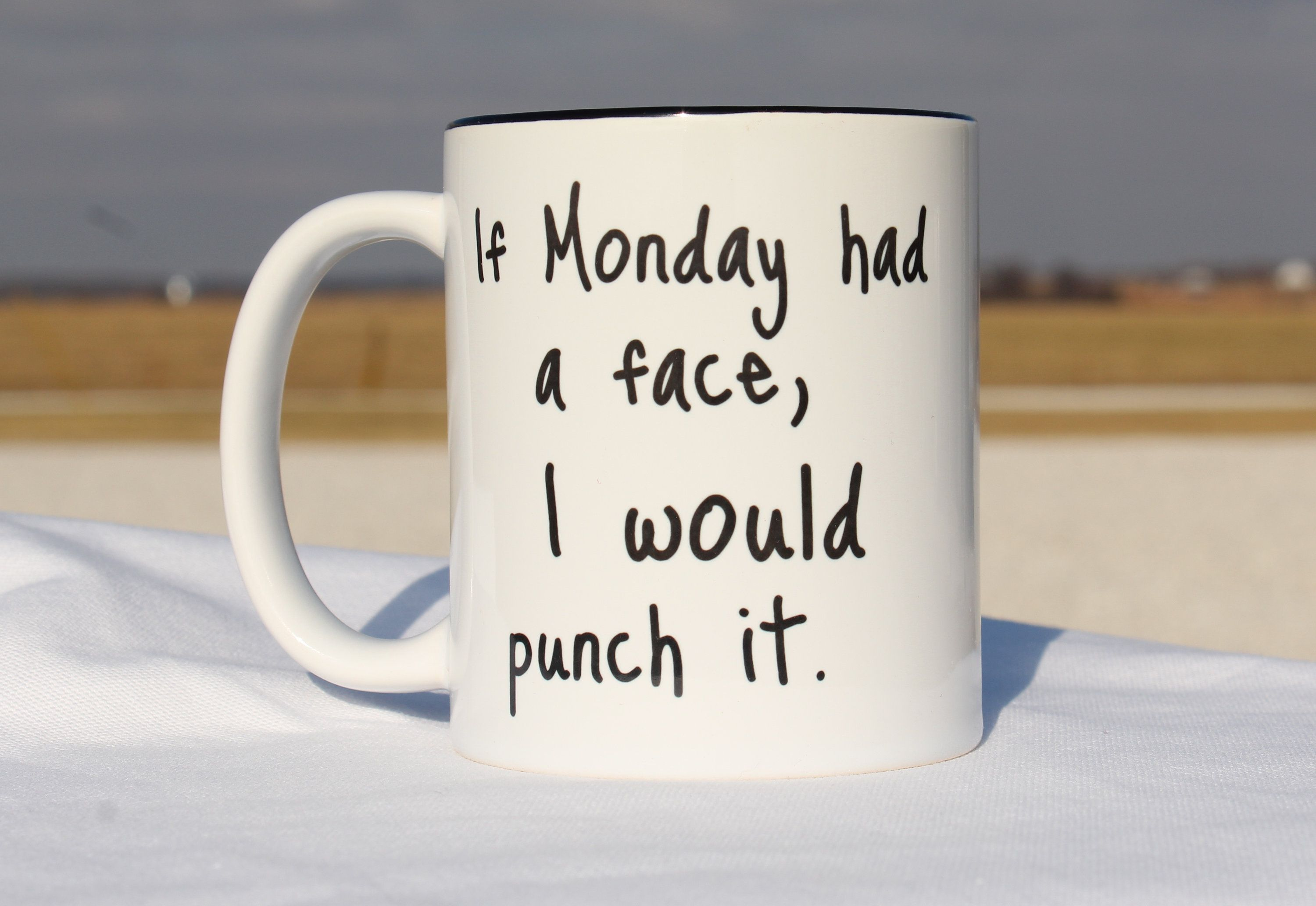 Funny Coffee Mugs,Funny Coffee Cup,If Monday Had a Face I Would Punch It,Funny Coffee Mugs for Women,Funny Coffee Mugs Work,Funny Mug