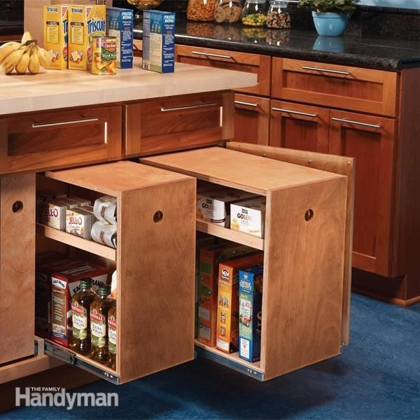 Build organized lower cabinet rollouts for increased kitchen storage build organized lower cabinet rollouts for increased kitchen storage home storage ideasfood storagekitchen storagehome ideasdiy solutioingenieria Gallery