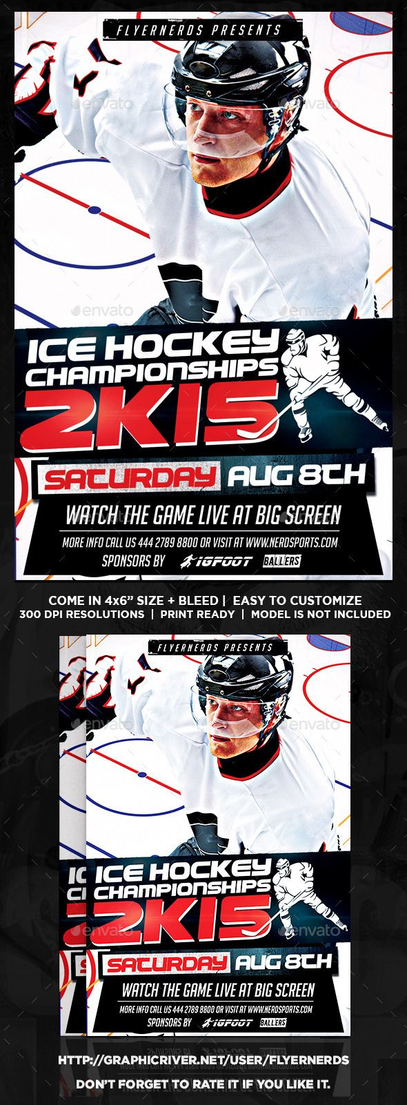 Ice hockey championships 2k15 sports flyer pinterest ice hockey ice hockey championships 2k15 sports flyer by flyernerds ice hockey championships 2k15 sports flyer description 4x6 with bleedprint ready cmyk maxwellsz