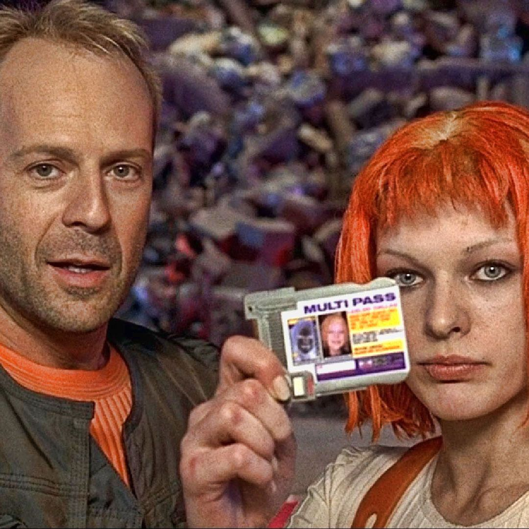 Bruce Willis Y Milla Jovovich En El Quinto Elemento The Fifth Element 1997 Bruce Willis Milla Jovovich El Quinto Elemento