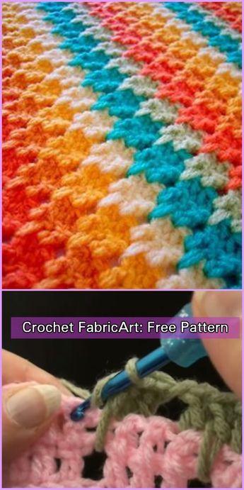 Crochet Larksfoot Stitch Free Pattern-Video Tutorial in 2018 ...