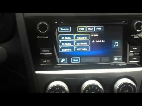 Touchscreen Audio options in the 2015 Subaru Crosstrek - YouTube