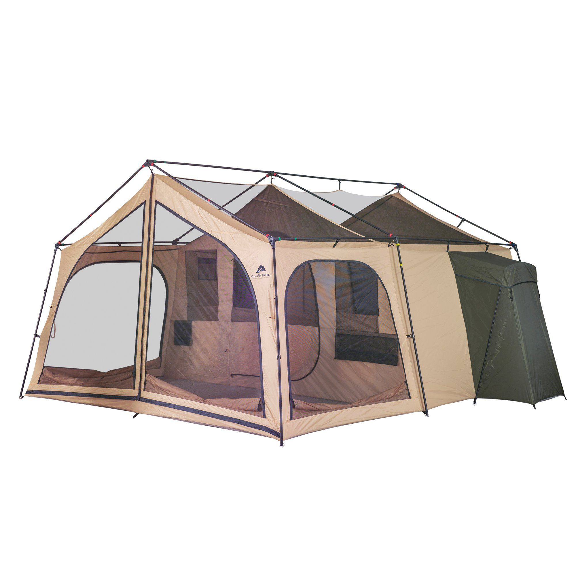 Ozark Trail 14 Person Cabin Tent For Camping Walmart Com Cabin Camping Cabin Tent Lodge Cabin