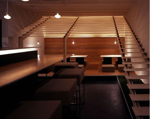 Minimalist japanese restaurant interior designed by for Asian minimalist interior design