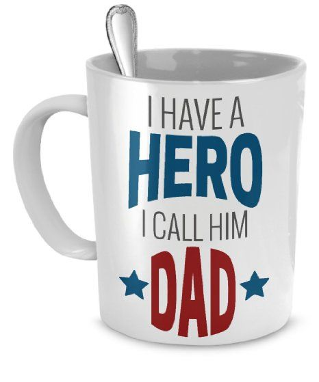 6e4d02a76 Hero Dad Father Gift Mug - Best Daddy Birthday and Fathers Day Gifts Custom Coffee  Mug