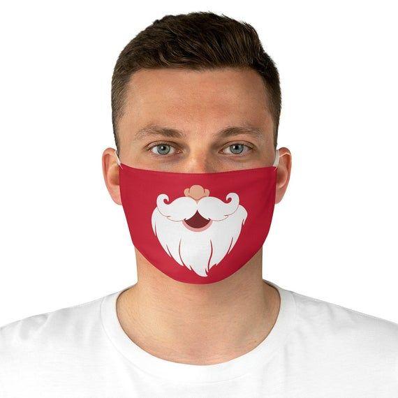 SANTA CLAUS MASK, Christmas Fabric Mask, Xmas Face