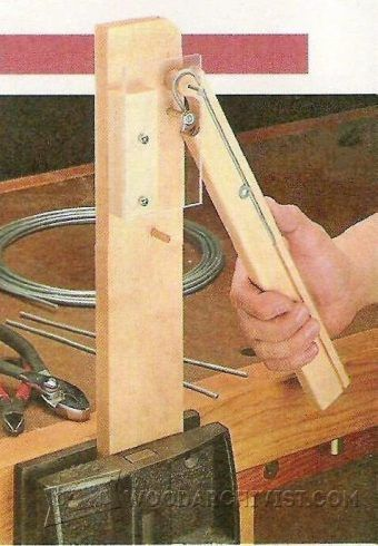 Scroll Bending Jig Woodworking Tips And Techniques Woodarchivist Com Woodworking Techniques Woodworking Basics Cool Woodworking Projects
