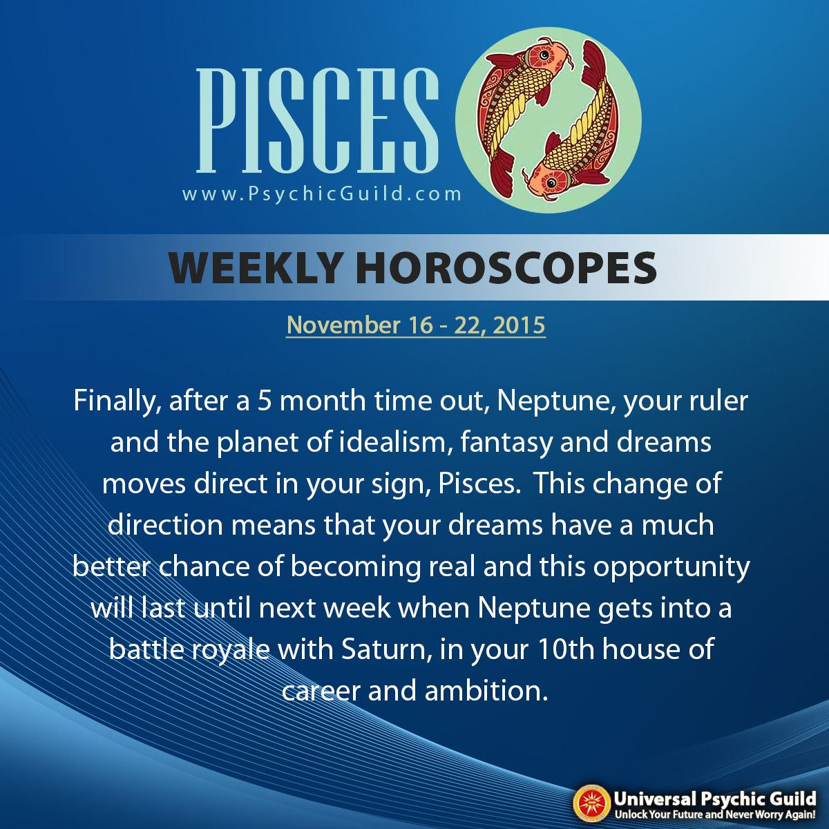 PISCES - Focus on what you want out of your career and where you see