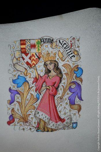 British Artist and Designer Andrew Stewart Jamieson's, 'Grand Armorial Vellum Library Paintings' (coats of arms, heraldic art, heraldry, heraldic artist, medieval illumination)