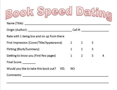 book club speed dating