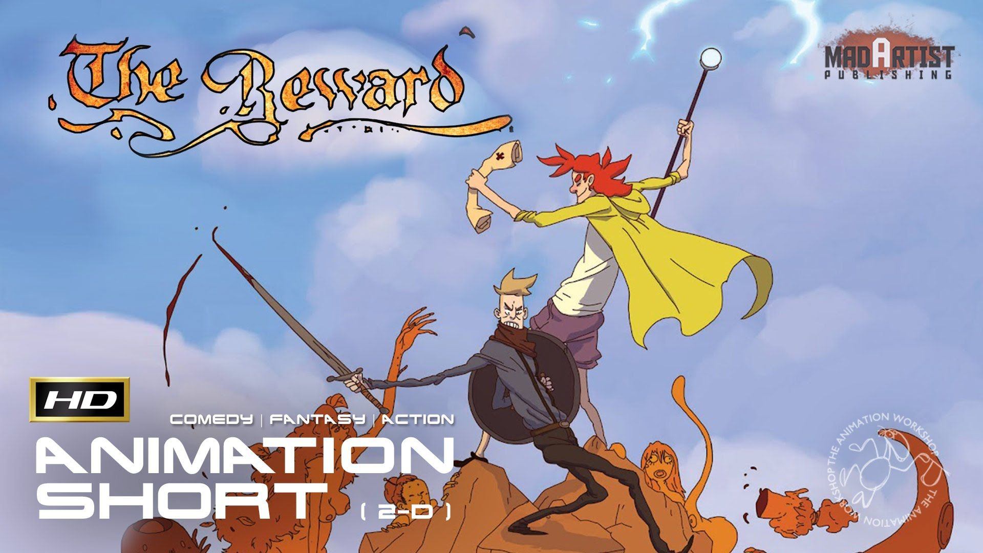 """2D Animated Short Film """"THE REWARD"""" Funny Action Animation"""