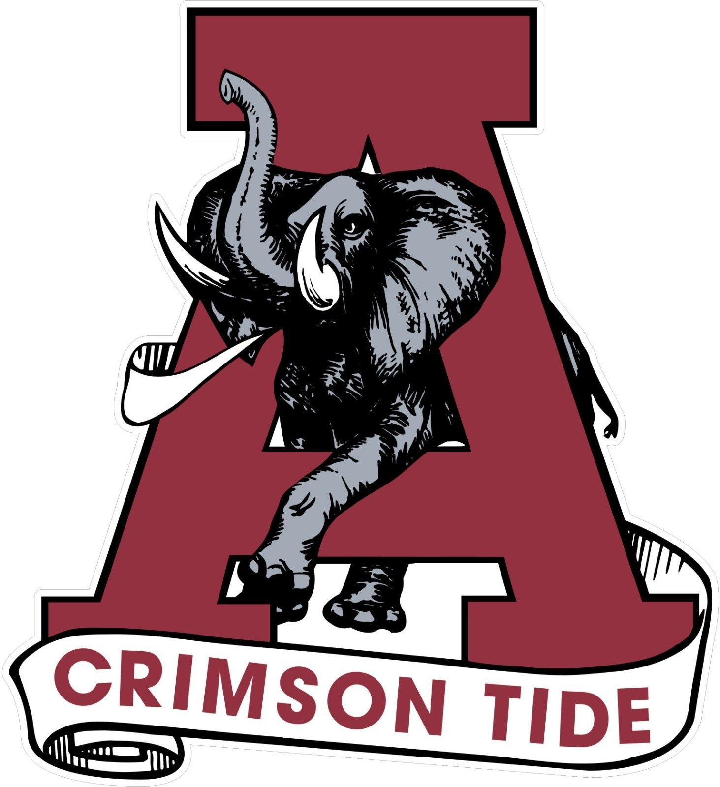 Alabama Crimson Tide Football Full Color Logo Decal Sticker