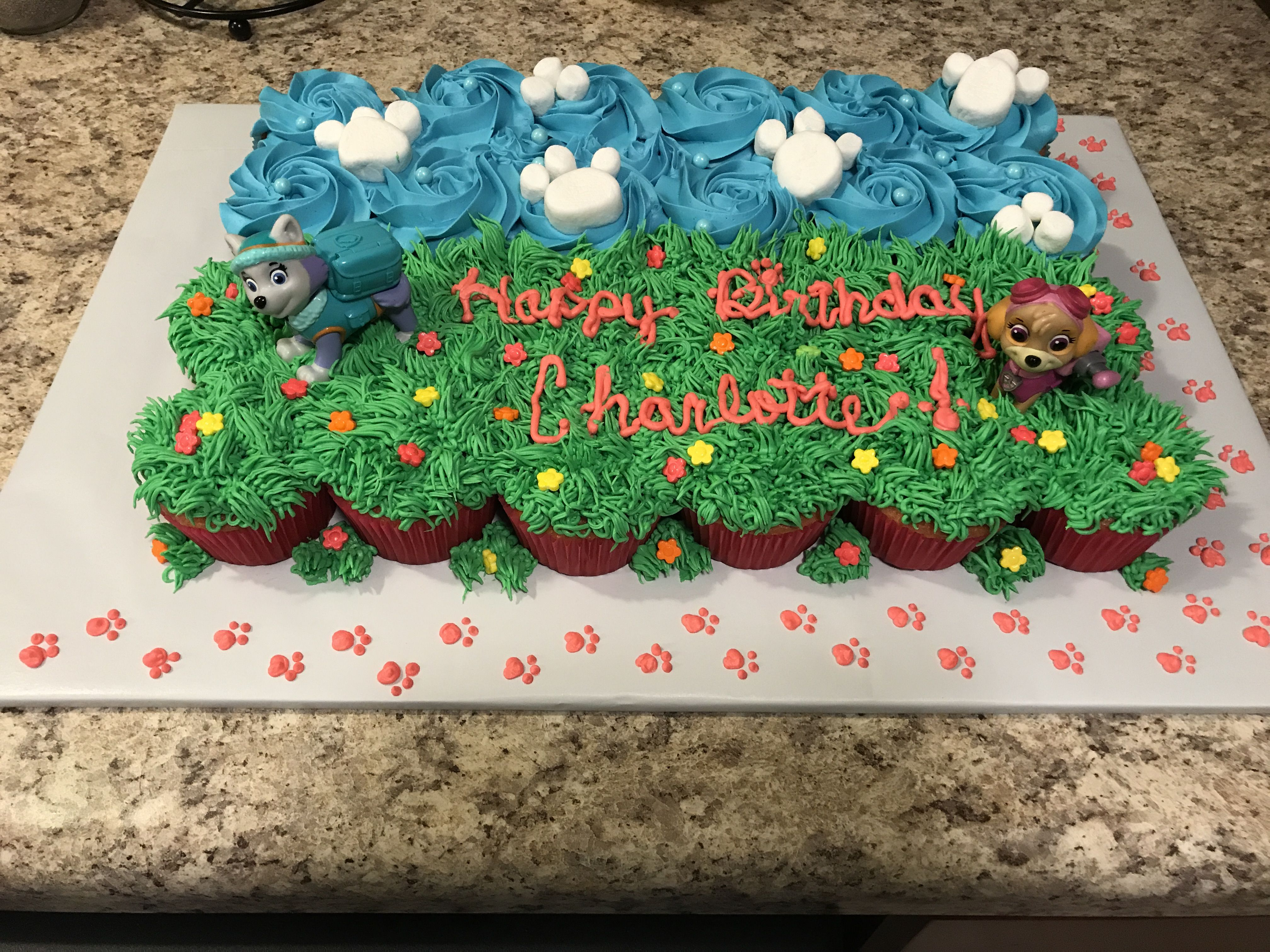 Paw Patrol Cupcake Cake With Images Paw Patrol Cake Diy Paw