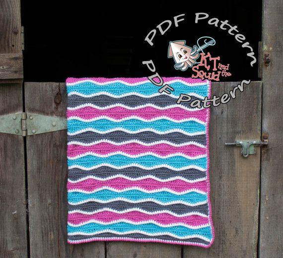 Crochet Patrón afgano, Rizo patrón de manta de ganchillo, ganchillo ...